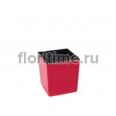 Кашпо Smart Square с внутренней вставкой, красный