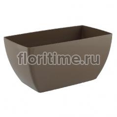 Luxury, удлиненное кашпо цвет серо-коричневый