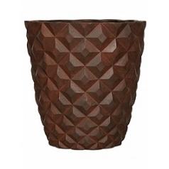 Кашпо Capi Lux heraldry vase taper round 1-й размер rust диаметр - 38 см высота - 40 см