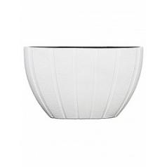 Кашпо Capi Lux pot oval 1-й размер arc white, белого цвета длина - 59 см высота - 35 см