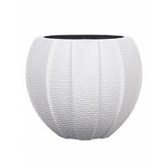 Кашпо Capi Lux vase eggplanter 2-й размер white, белого цвета диаметр - 12 см высота - 9 см