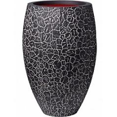 Кашпо Capi Nature clay nl vase elegant deLuxe anthracite, цвет антрацит диаметр - 56 см высота - 84 см