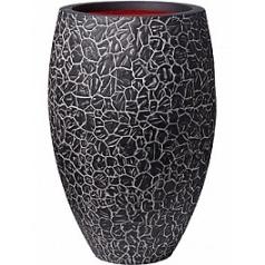 Кашпо Capi Nature clay nl vase elegant deLuxe anthracite, цвет антрацит диаметр - 45 см высота - 72 см