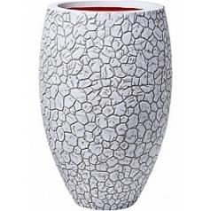 Кашпо Capi Nature clay nl vase elegant deLuxe ivory, цвет слоновая кость диаметр - 56 см высота - 84 см