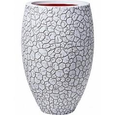 Кашпо Capi Nature clay nl vase elegant deLuxe ivory, цвет слоновая кость диаметр - 45 см высота - 72 см