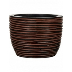 Кашпо Capi Nature egg planter rib 3-й размер brown, коричнево-бурого цвета диаметр - 18 см высота - 16 см