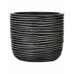 Кашпо Capi Nature egg planter rib iiii black, чёрного цвета диаметр - 24 см высота - 21 см