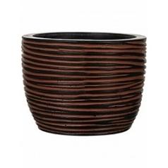 Кашпо Capi Nature egg planter rib iiii brown, коричнево-бурого цвета диаметр - 24 см высота - 21 см