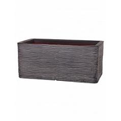 Кашпо Capi Nature rib nl pot rectangle anthracite, цвет антрацит длина - 73 см высота - 32 см