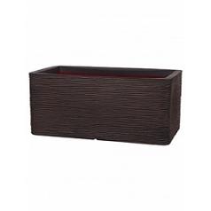 Кашпо Capi Nature rib nl pot rectangle тёмно-коричневого цвета длина - 73 см высота - 32 см