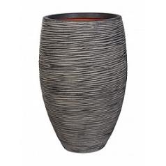 Кашпо Capi Nature rib nl vase vase elegant deLuxe anthracite, цвет антрацит диаметр - 45 см высота - 72 см