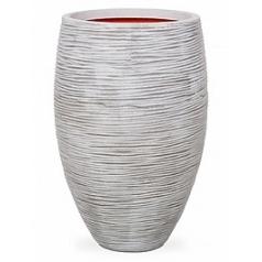 Кашпо Capi Nature rib nl vase vase elegant deLuxe ivory, цвет слоновая кость диаметр - 45 см высота - 72 см