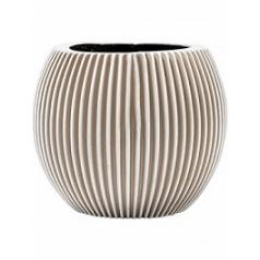 Кашпо Capi Nature vase ball groove 3-й размер ivory, цвет слоновая кость диаметр - 17 см высота - 14 см