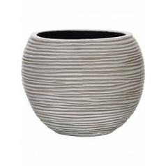 Кашпо Capi Nature vase ball rib iiii ivory, цвет слоновая кость диаметр - 23 см высота - 19 см