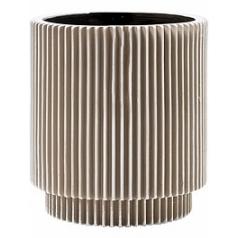 Кашпо Capi Nature vase cylinder groove 3-й размер ivory, цвет слоновая кость диаметр - 15 см высота - 16 см