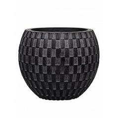 Кашпо Capi Nature vase eggplanter 1-й размер wave black, чёрного цвета диаметр - 10 см высота - 9 см