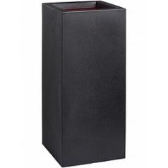 Кашпо Capi Urban smooth nl planter rectangle black, чёрного цвета длина - 36 см высота - 79 см