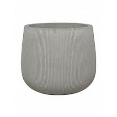 Кашпо Nieuwkoop Fiberstone ridged cement pax L размер диаметр - 55 см высота - 48 см