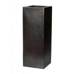 Кашпо Capi Lux Высокое прямоугольное, чёрный