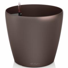 Кашпо Lechuza Classico, кофейный металлик