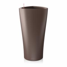 Кашпо Lechuza Delta, кофейный металлик