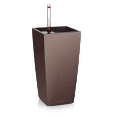 Кашпо Lechuza MAXI-Cubi, кофейный металлик