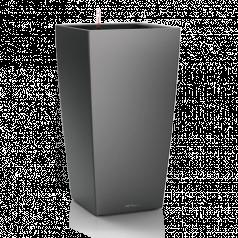 Кашпо Lechuza Cubico, антрацитовый металлик