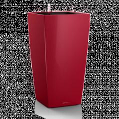 Кашпо Lechuza Cubico, ярко-красный блестящий