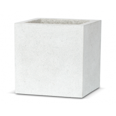 Кашпо Capi Lux Куб, светло-серый