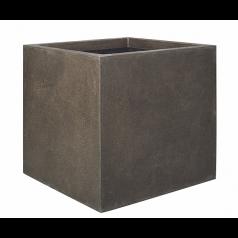 Кашпо Capi Lux Куб, коричневый