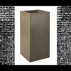 Кашпо Capi Lux Высокое прямоугольное, коричневый