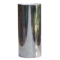Кашпо Polished Cylinder, алюминий