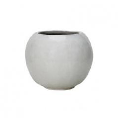 Кашпо Globe, керамика, белый