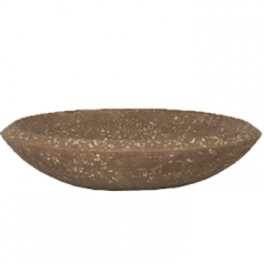 Кашпо Polystone Rock Plate, коричневый