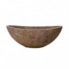 Кашпо Polystone Rock Boat, коричневый