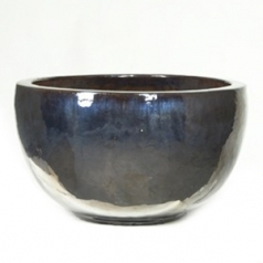 Кашпо Metal glaze bowl, керамика