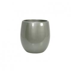 Кашпо Callisto Round, пластик, серебряный