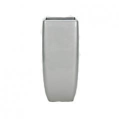 Кашпо Callisto Square, пластик, серебряный