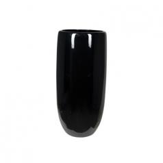 Кашпо Callisto Vase, пластик, черный
