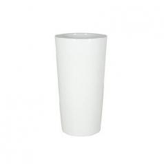 Кашпо Krappa Partner, пластик, блестящий белый