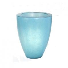 Кашпо Fibreglass Round, пластик, ледяной синий