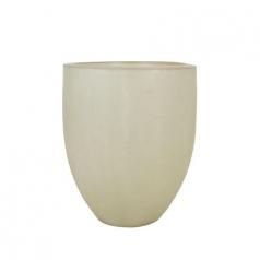 Кашпо Fibreglass Round, пластик, природный