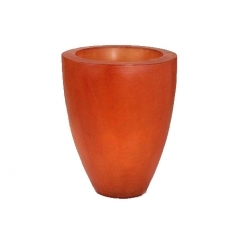 Кашпо Fibreglass Round, пластик, оранжевый