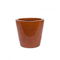Кашпо Krappa Round, пластик, красный бамбук