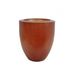 Кашпо Fibreglass Round, пластик, темно красный