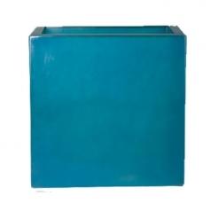 Кашпо Fibreglass Square, пластик, ледяной синий