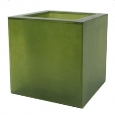Кашпо Fibreglass Square, пластик, яблочно зеленый