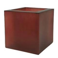Кашпо Fibreglass Square, пластик, темно красный