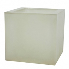 Кашпо Fibreglass Square, пластик, природный