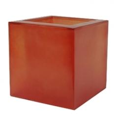 Кашпо Fibreglass Square, пластик, оранжевый